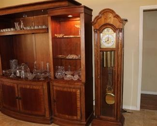 "Howard Miller 77"" grandfather clock"