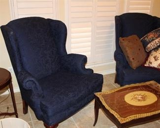 pair Broyhill wingback chairs