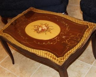 coffee table, with glass top