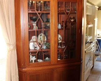 repro Hepplewhite corner cabinet