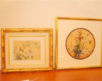 2. Two 2  Chinese Paintings Framed and Signed