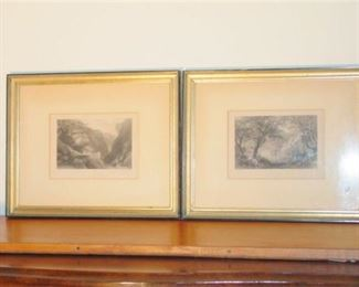9. Two 2 Framed Antique C.1850 Engravings