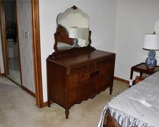 4. Vintage Dresser With Mirror circa 1930s