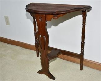 3. Early 20th Cent Demi Lune Console Table