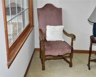 1. Upholstered Open Armchair