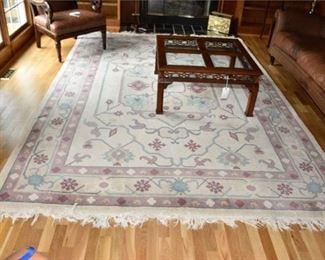 6. Handwoven Garden Pattern Carpet with Ivory Ground