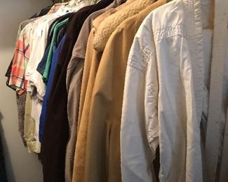Men's shirts and jackets (sz large and XL)