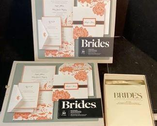bride invitations stationary