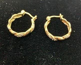 goldtone hoops