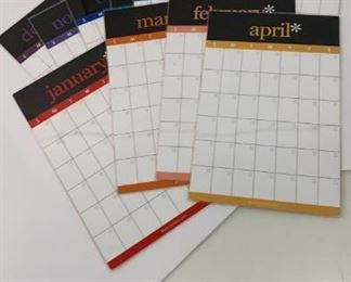 monthly dry erase boards