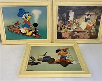 3 disney wallart plastic frames