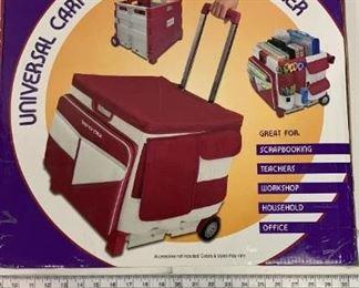 scrapbook rolling cart
