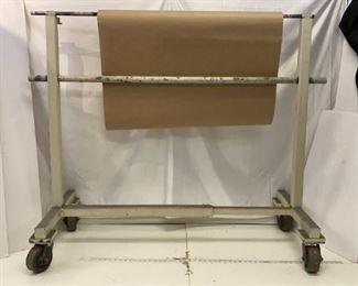 rolling indsutrial paper cart