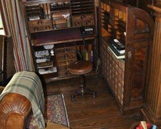 D108  $ 4900 1878 Moore Cabinet Secretary Desk