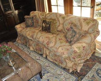 A108  Ralph Lauren sofa  Length:  8'