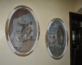 """B125 - B 128 ANTIQUE VIRGIN OF GUADALUPE PAINTINGS      HEIGHT:  48""""  WIDTH:  33""""   $3500 each or $10,000 for all four"""
