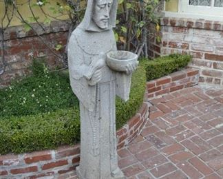 statue of monk holding bowl & bird  $1500