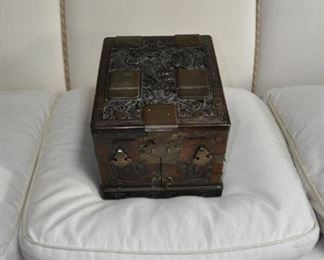A150  Antique Chinese travel case with mirror  $2500