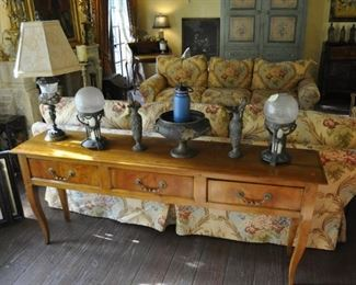 """A120 sofa table with 3 drawers  Length:  72""""      Depth:  16""""   Height:  30""""  $1495"""