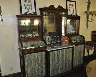 """B114 Apothecary Dispensary Set of cabinets  Length:  79""""  Depth:  24""""  Height:  79""""  TOTAL FOR BOTH IS $14,500"""