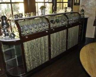 """B114 Apothecary Dispensary Set of cabinets  Length:  100""""  Depth:  18""""  Height:  51""""  TOTAL FOR BOTH IS $14,500"""