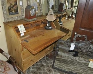 """E106  antique drop front desk and 3 drawer chest  Length:  44""""   $650"""
