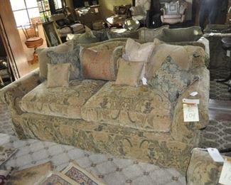 E104  upholstered sofa  $495