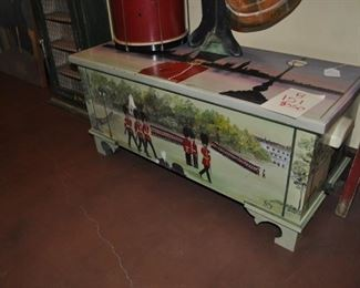 B151 English painted chest $350