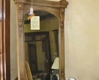 "C107  Antique mirror   Height:  45""    Width:  26"""