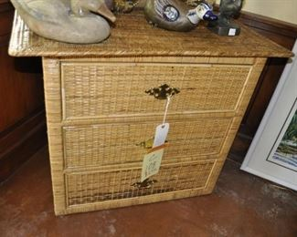 """C108  wicker chest of drawers   Width:  36""""  Depth:  18""""  Height:  30""""   $295"""