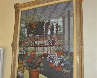 """C105  Original oil on canvas by John Powell    Height:  58""""   Width:  46""""    $3500"""