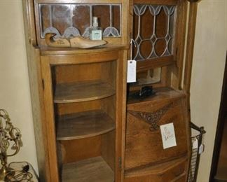 B156 Antique display / drop front desk/ chest of drawers   $450
