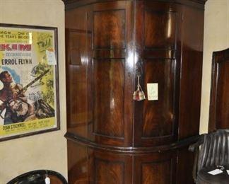 B124  Incredible Custom made barware cabinet  Height:  8 feet  Width:  4 feet  Depth:  4 feet  $15000