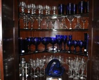 inside view of barware cabinet