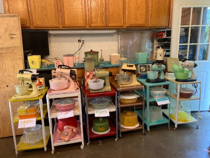 MANY refurbished Costco carts in different colors, Many Mixers ALL colors