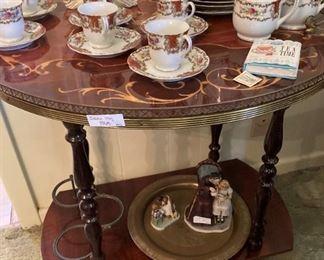 Tea set and 2-tier tea cart