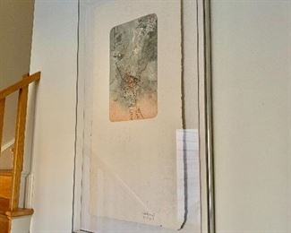 "$895 - Signed Lebadang  mixed-media - (French/Vietnamese 1922-2015) - 27"" W x 45"" H"