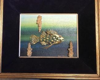 "William Tolliday ""Coral Sea"" Gold Collage"