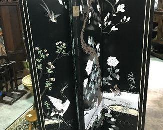 One of 3 Oriental screens