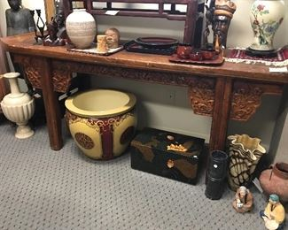 1850's Carved Chinese Alter Table