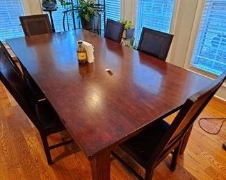 Farm Table w/8 Chairs