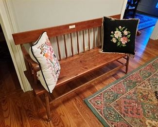 Antique Primitive Pine Bench