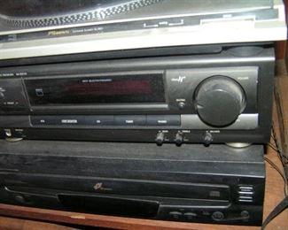 Technics receiver and CD player