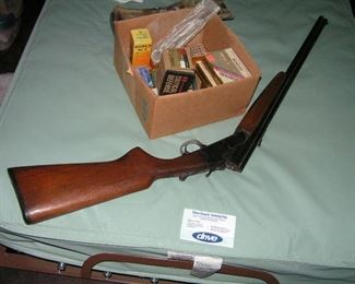 Savage arms model 24 is 22 over 410 with ammo  and cleaner kit