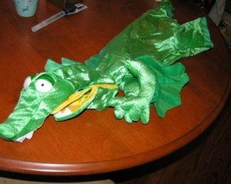 dragon or alligator dog costume