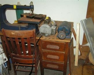 jig saw - motors-desk and chair