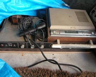 TNT amp and record player
