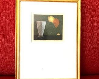 "$500 - Signed and numbered Japanese print -  12.5"" H x 9.75"" W. - possibly Yoshisuke Funasaka"