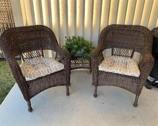 $55-(three available)  wicker chair / $45 ( two available) wicker table