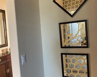 $115- Set of three decorative mirrors